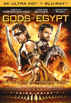 Cover - Gods of Egypt 4K Ultra HD + Blu-ray